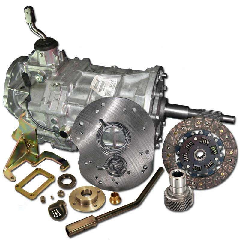 AX15 transmission replacing the stock AX5 transmission in 4 cylinder  equipped Jeep Wrangler - Free Shipping